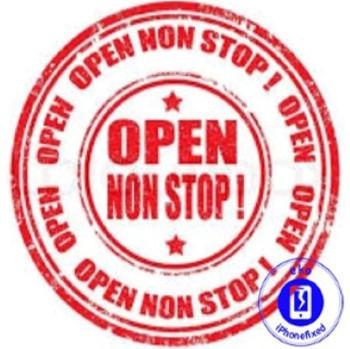 non stop open ook op de middag
