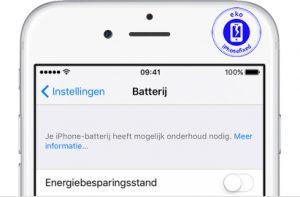 iPhone batterij vervangen waarschuwing