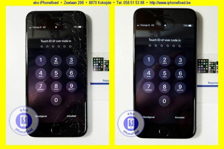 Ongekend iPhone 6S reparatie: Scherm vervangen € 89,-, Altijd zonder afspraak QB-03