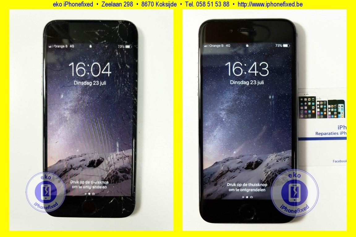Spiksplinternieuw iPhone 6S reparatie: Scherm vervangen € 89,-, Altijd zonder afspraak SV-54
