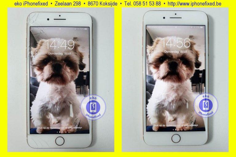 apple-iphone-8-plus-scherm-reparatie-glas-vervangen-koksijde