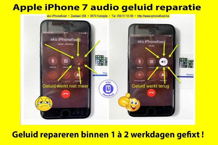 iPhone 7-audio-geluid-reparatie-koksijde-binnen 1 werkdag-1