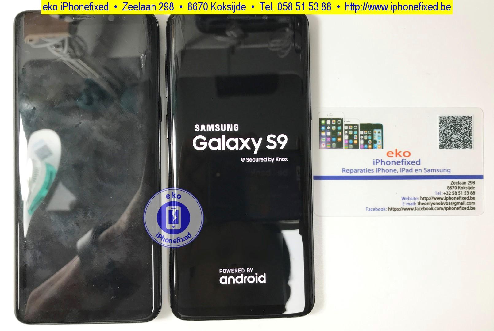 samsung-galaxy-s9-scherm-reparatie-glas-vervangen-koksijde