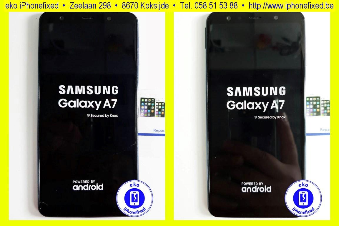 samsung-galaxy-a7-2018-scherm-reparatie-glas-vervangen-koksijde-bad-17