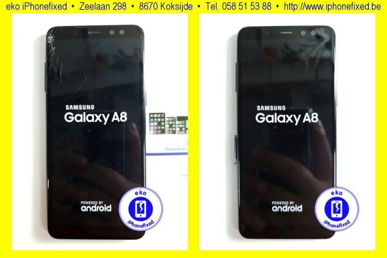 samsung-galaxy-a8-scherm-reparatie-glas-vervangen-koksijde-bad-1