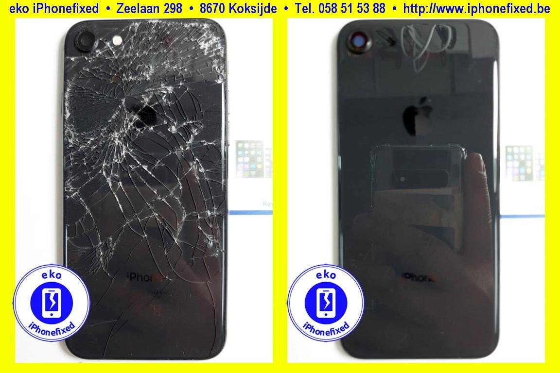 apple-iPhone-8-achterkant-behuizing-met glas-vervangen-te koksijde-1