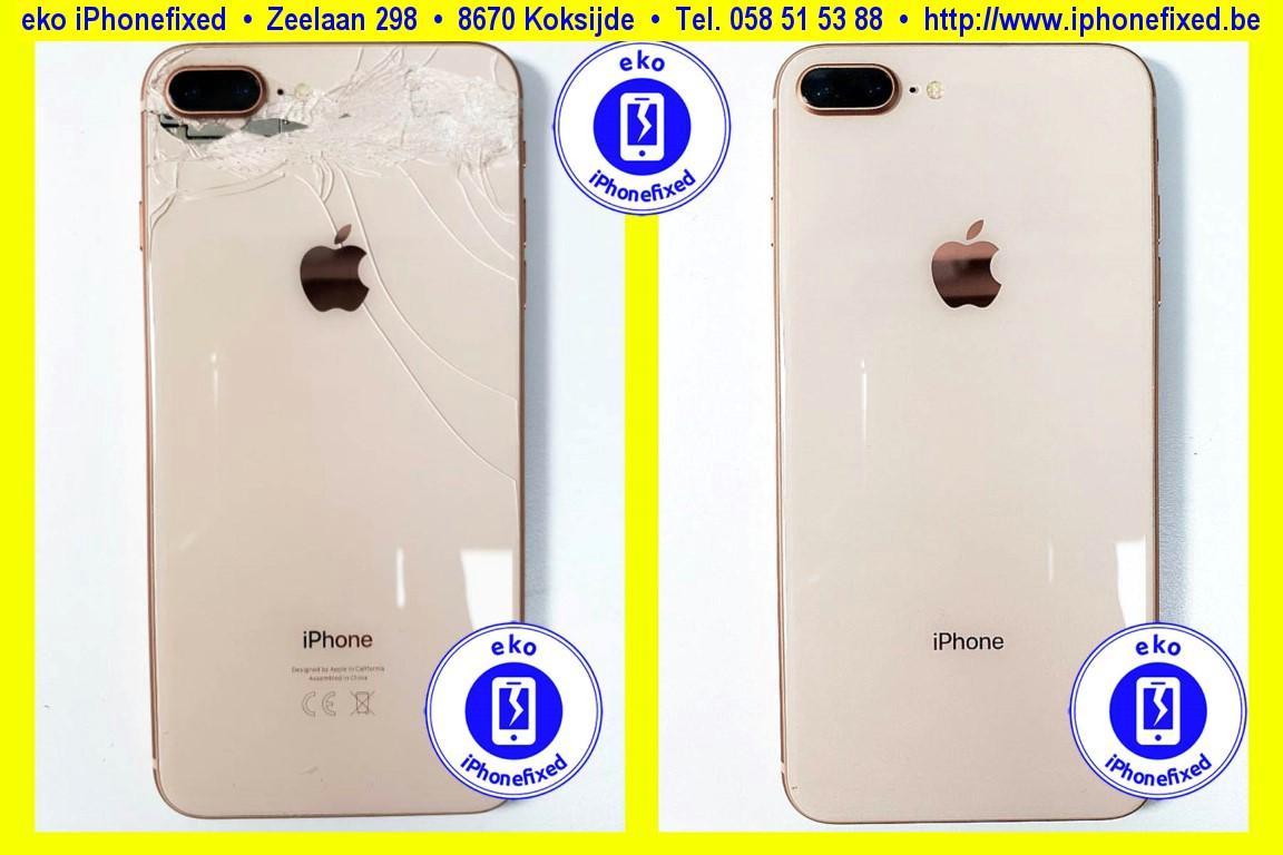 apple-iPhone-8-plus-achterkant-behuizing-met glas-vervangen-te koksijde-1
