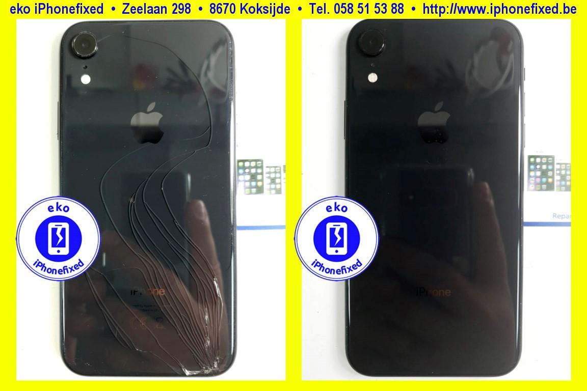 apple-iPhone-xr-achterkant-behuizing-met glas-vervangen-te koksijde-2