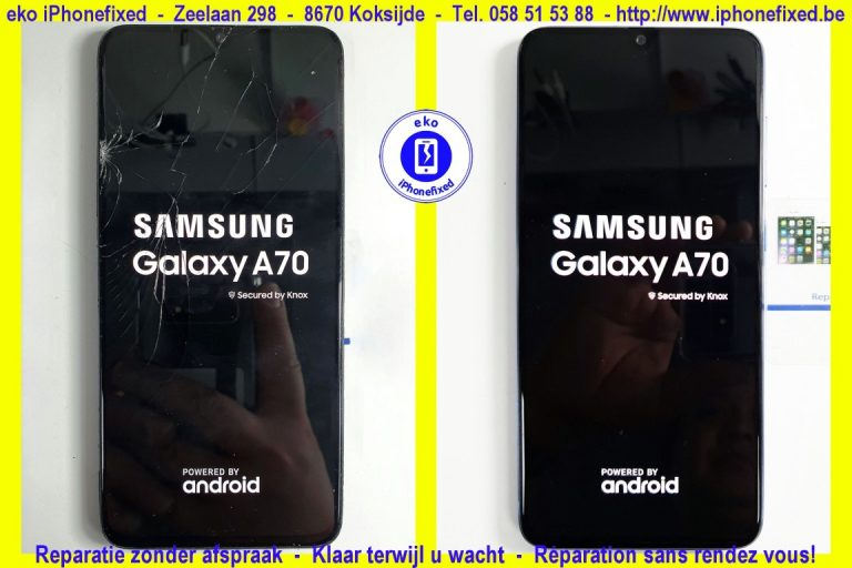Samsung galaxy A70 scherm reparatie koskijde-bad_8