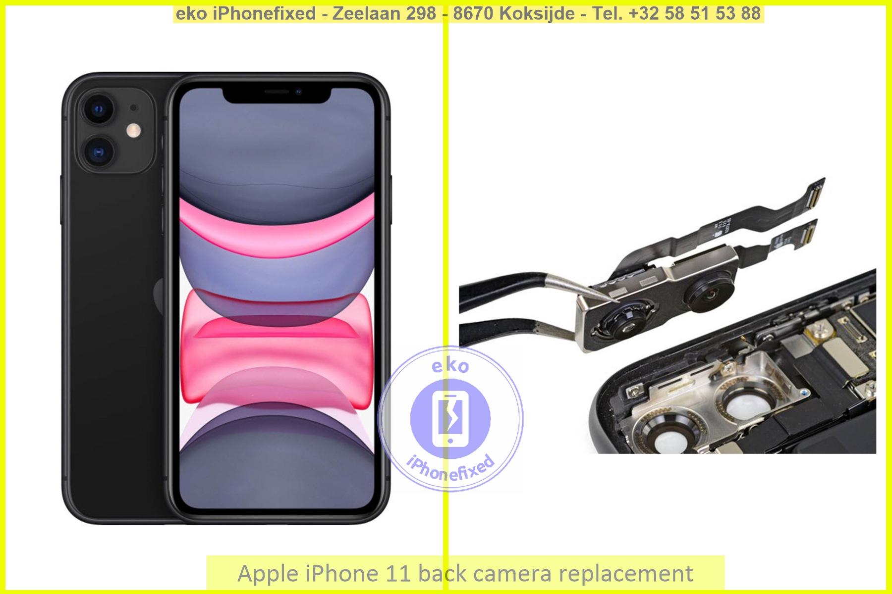 Apple iPhone 11 achterkant camera vervanging eko iPhonefixed_1