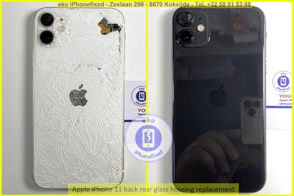 Apple iPhone 11 achterkant glas behuizing vervanging eko iPhonefixed_1