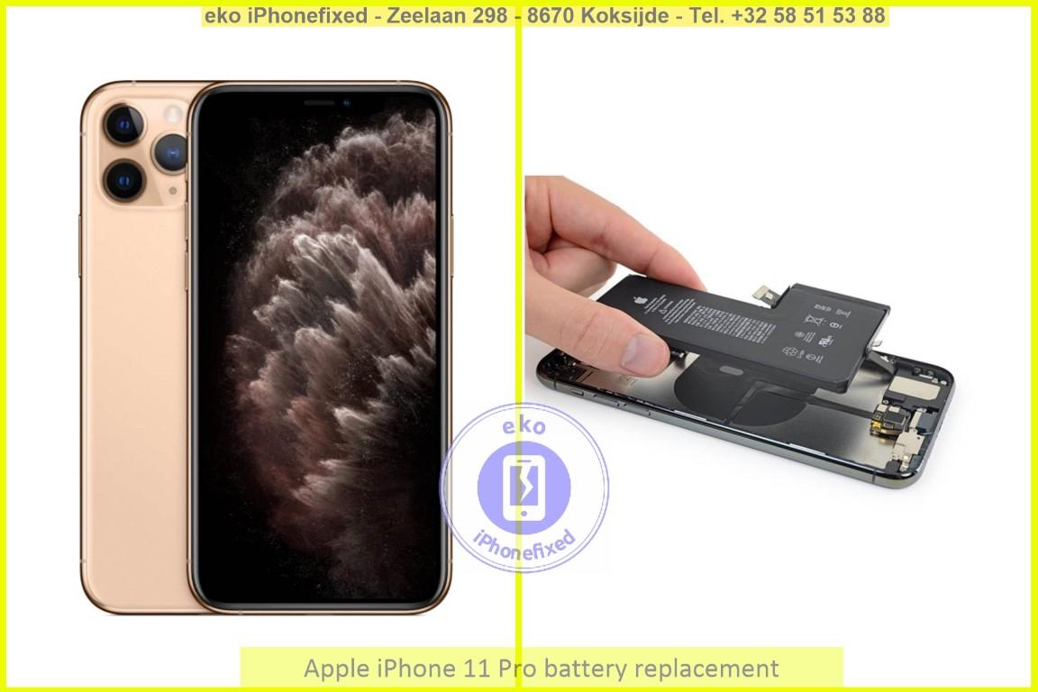 Apple iPhone 11 pro batterij vervanging eko iPhonefixed_1