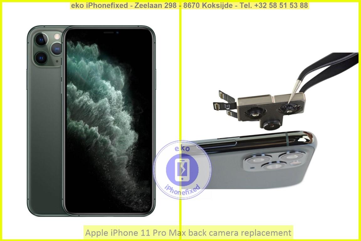 Apple iPhone 11 pro max achterkant camera vervanging eko iPhonefixed_1