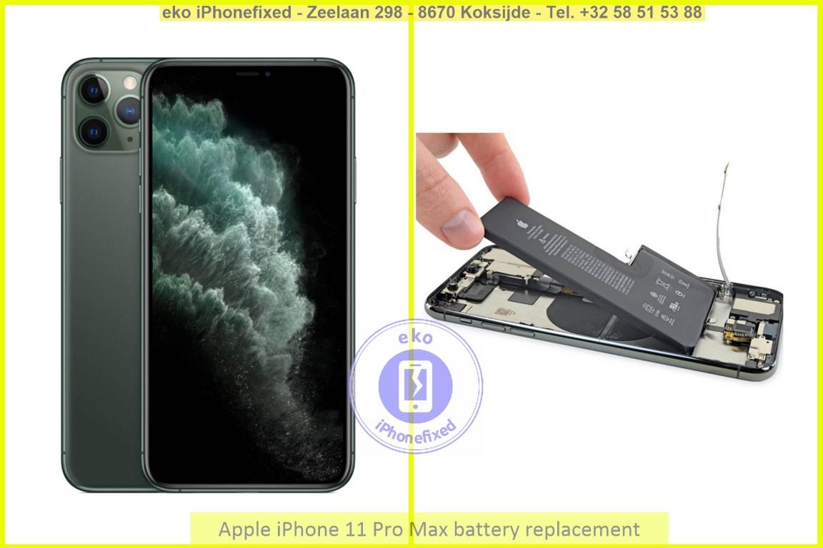 Apple iPhone 11 pro max batterij vervanging eko iPhonefixed.be_1