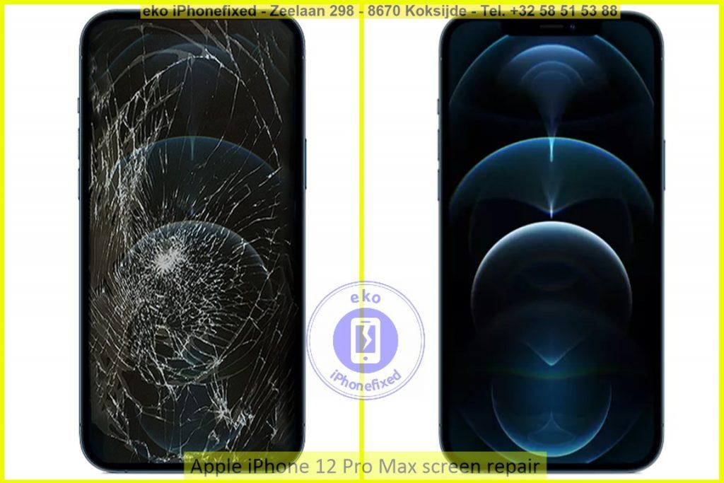 Apple iPhone 12 Pro Max scherm reparatie eko iPhonefixed.be_1