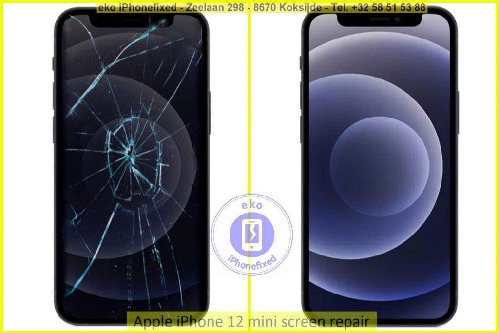 Apple iPhone 12 mini scherm reparatie eko iPhonefixed.be_1
