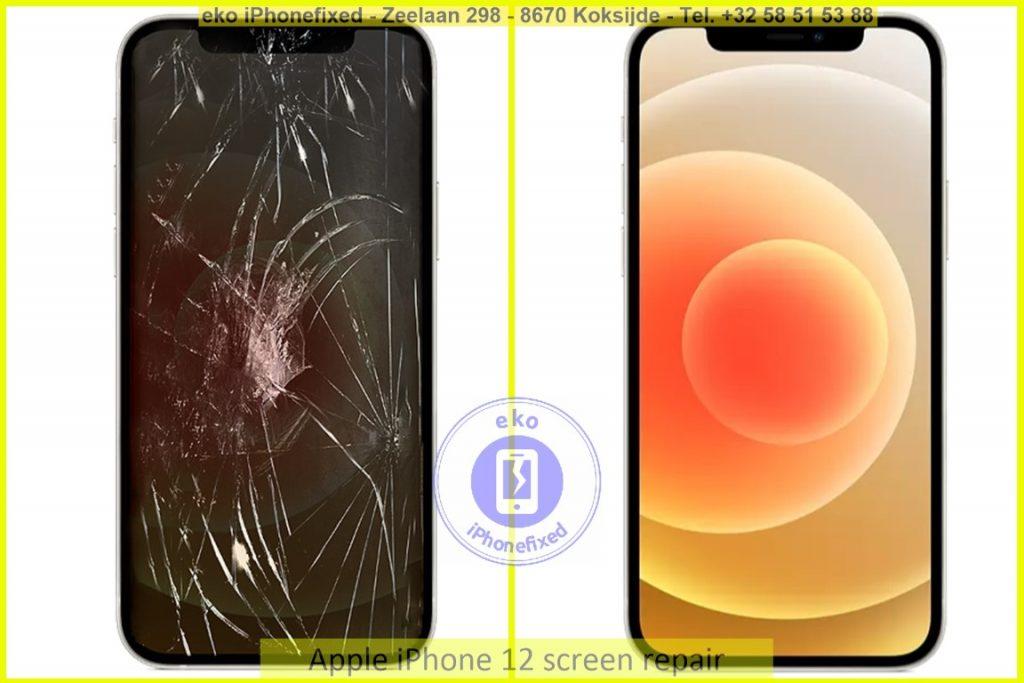 Apple iPhone 12 scherm reparatie eko iPhonefixed.be_1