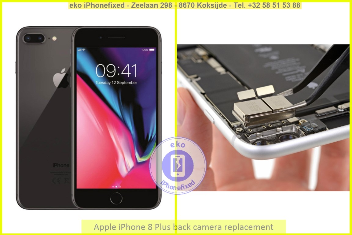 Apple iPhone 8 plus achterkant camera vervanging eko iPhonefixed_1