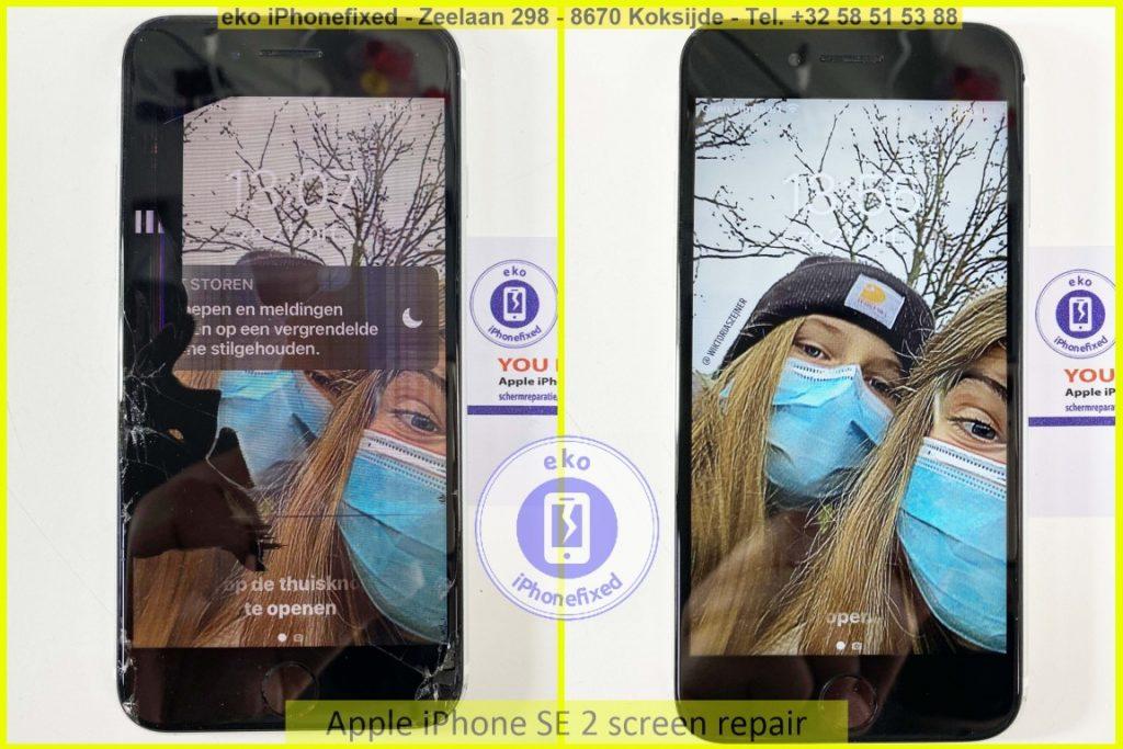 Apple iPhone SE 2020 scherm reparatie eko iPhonefixed.be_1