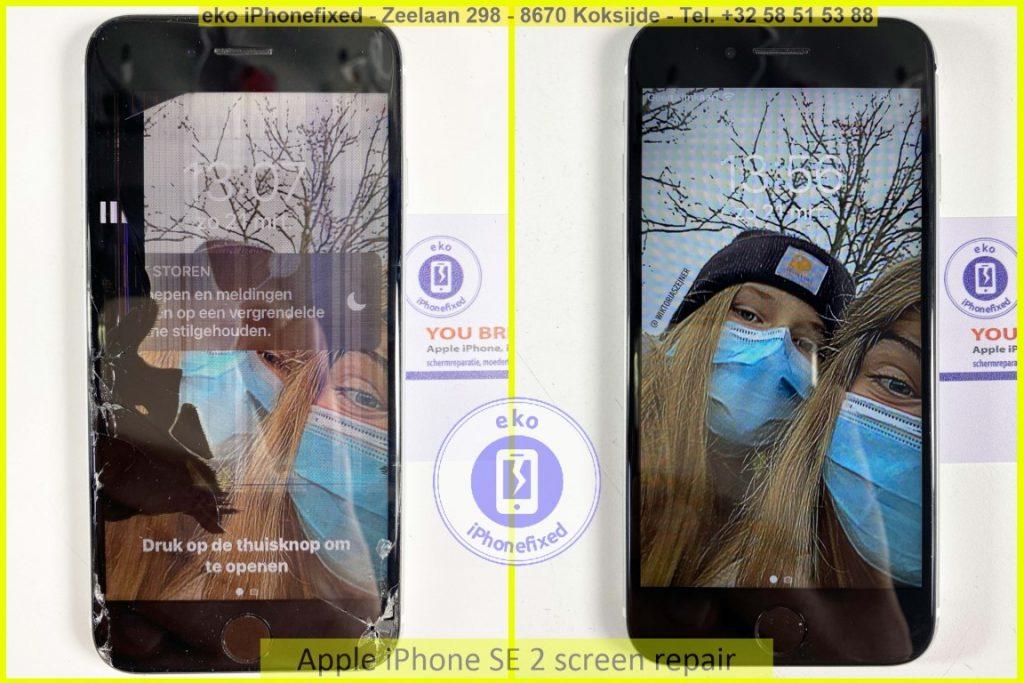 Apple iPhone SE 2020 scherm reparatie eko iPhonefixed.be_2