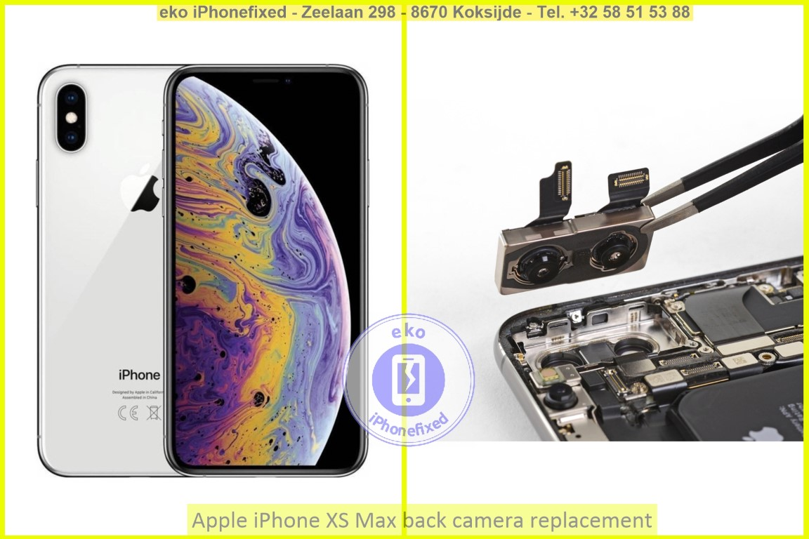 Apple iPhone xs max achterkant camera vervanging eko iPhonefixed_1
