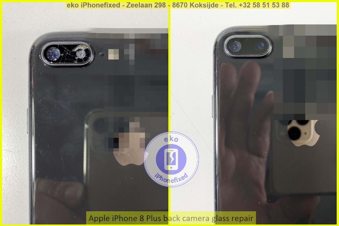 Apple iPhone 8 plus achterkant glas camera reparatie eko iPhonefixed koksijde_1