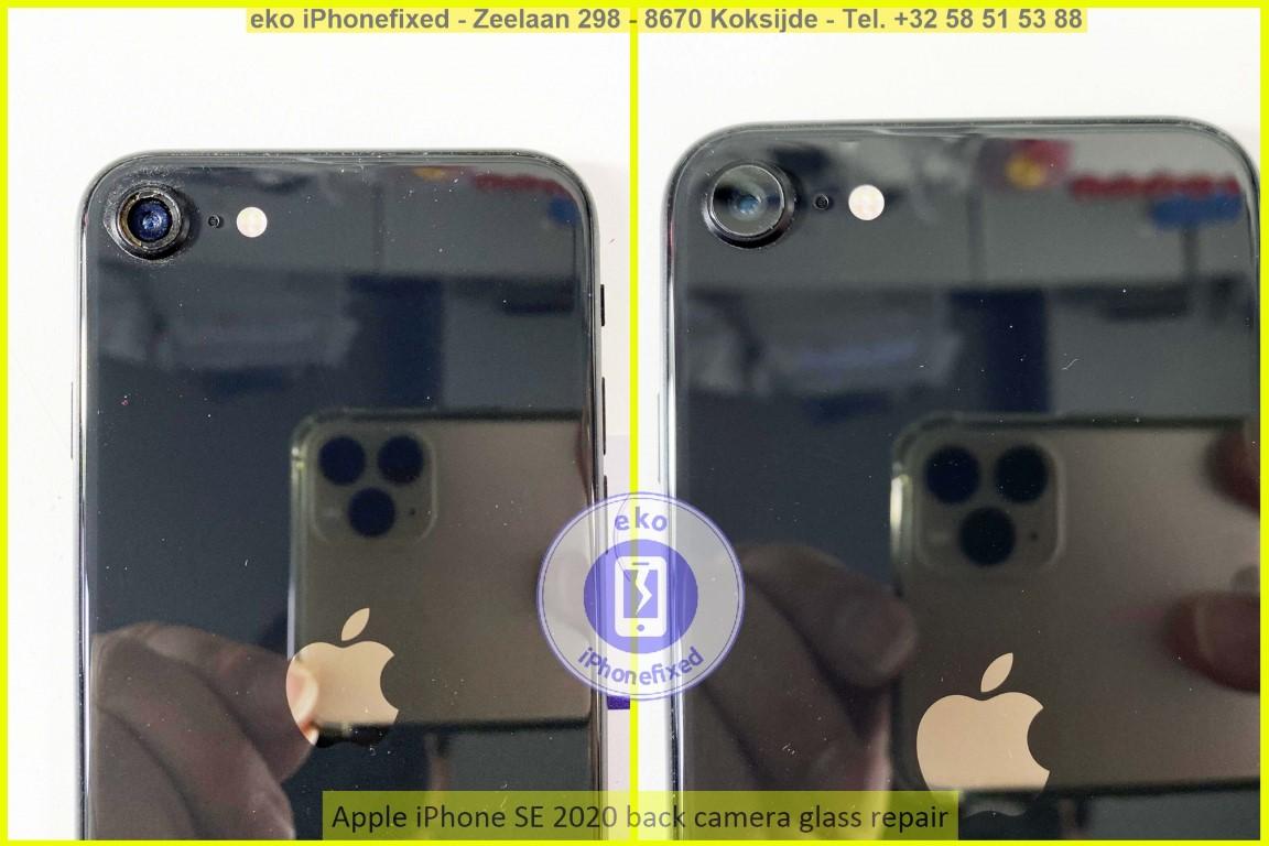 Apple iPhone se 2020 achterkant camera glas reparatie eko iPhonefixed koksijde_1