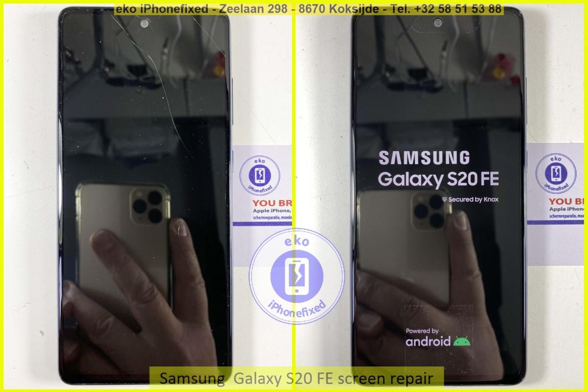 Samsung Galaxy s20 fe scherm reparatie eko iPhonefixed.be_2